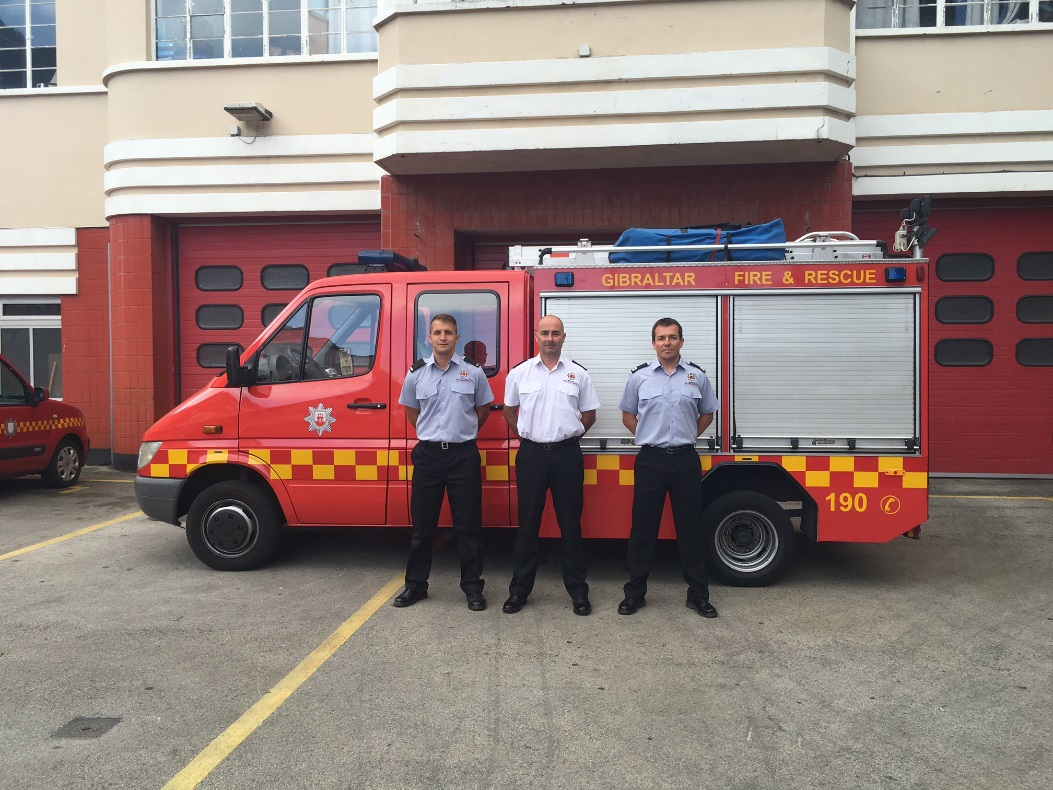 From Left to Right: Leading Firefighter Shane Brown, Divisional Officer Matthew Payas & Sub Officer Christian Desoiza