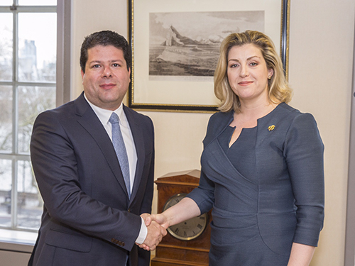 Chief Minister meets the Minister for the Armed Forces, Penny Mordaunt.