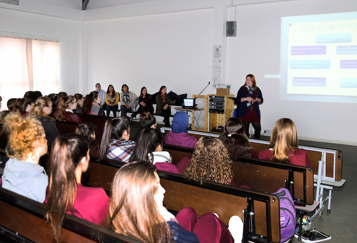 On World Social Work Day, Care Agency staff gave a series of presentation to students at Westside School.