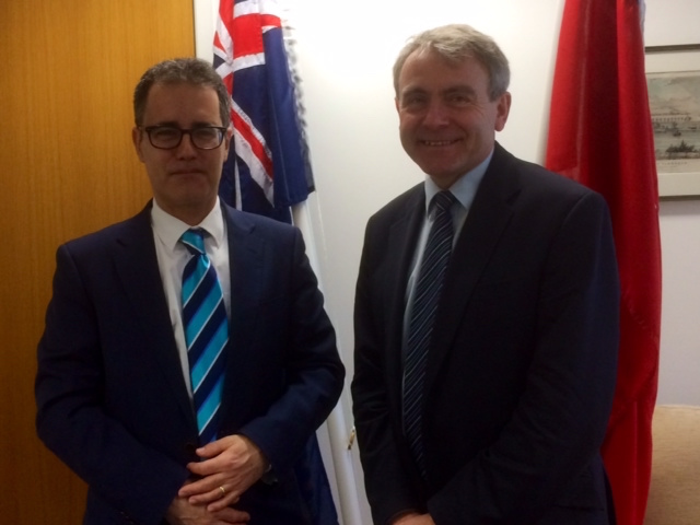 The Deputy Chief Minister Dr Joseph Garcia today met in London with the UK Minister of State for Transport, Robert Goodwill MP. A number of civil aviation matters were discussed.