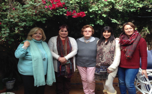 Counsellors Pili Rodriguez, Nancy Goldwin-Gomez, Annie Risso, Dunia Bautista and Jackie Olivero