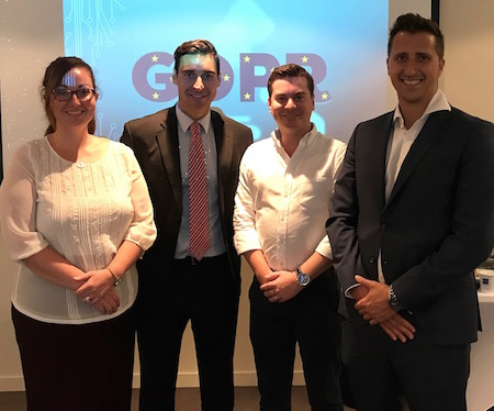 (L-R) Annette Reyes (Information Rights Officer, GRA) Bradley Tosso (Head of Information Rights, GRA) James Montado (Managing Associate, Isolas) Michael Adamberry (Associate, Isolas)