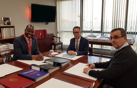 The Secretary General (Ag) of the Commonwealth Parliamentary Association (CPA) Mr Jarvis Matiya met with the Deputy Chief Minister Dr Joseph Garcia this afternoon prior to the Commonwealth Roadshow which will take place on Wednesday