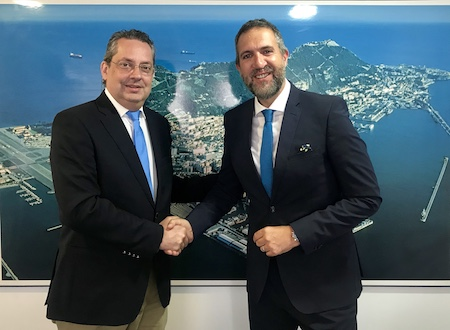 Left to right: Mr Helder Silva, Managing Director of Casais (Gibraltar) Limited, and Fabian Vinet, Head of Commercial Operations for Gibraltar 2019 Natwest International Island Games